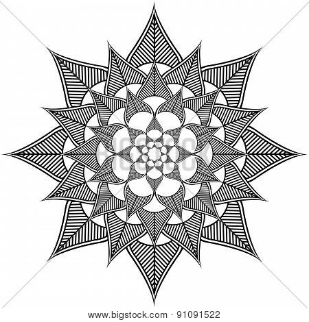 Indian culture inspired flower shape made out of leaves shapes