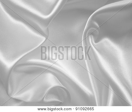 Smooth Elegant White Silk Or Satin Texture As Wedding Background