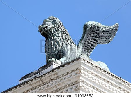 Statue Of The Winged Lion Of St Mark