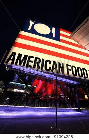 American Food hall of Milan Expo 2015