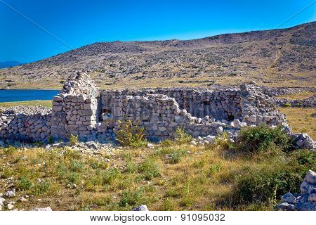 Island Of Krk Old Stone Ruins