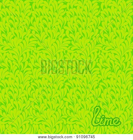 Lime abstract pattern