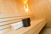 stock photo of sauna  - Modern Sauna  - JPG
