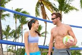 picture of beach-ball  - Beach volleyball - JPG