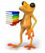 stock photo of orange frog  - Fun frog - JPG