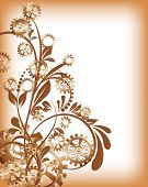 stock photo of steampunk  - Abstract mechanical background with floral elements - JPG