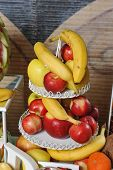 stock photo of fruit  - Carved fruits arrangement - JPG