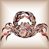 stock photo of zodiac sign  - Illustration of zodiac Cancer - JPG