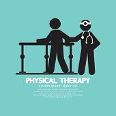picture of physical therapist  - Black Symbol Physical Therapy Vector Illustration - JPG