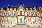 stock photo of chateau  - Chateau de Sceaux grand country house in park of Sceaux Hauts - JPG