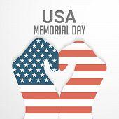 pic of memorial  - illustration of beautiful hand for Happy Memorial Day - JPG