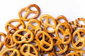 picture of pretzels  - food pretzel bread salty salt tasty brown snack - JPG