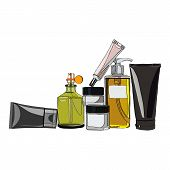 picture of beard  - looking after a set of cosmetics for men  - JPG