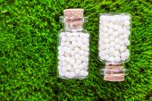 stock photo of placebo  - Homeopathy  pills - JPG