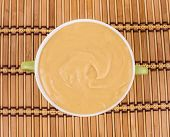 foto of peas  - Pea soup in a green bowl - JPG