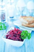 pic of beet  - beet salad in bowl and on a table - JPG