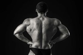 picture of strongman  - Strongman on a black background - JPG