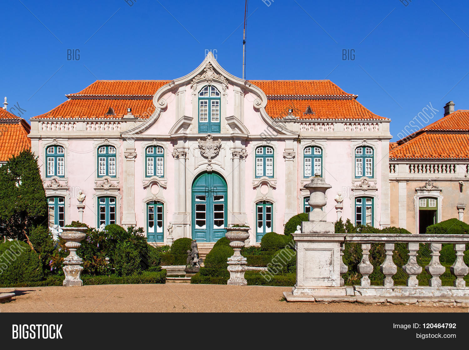 Neptune Gardens (baroque) And One Of The Facades Of The