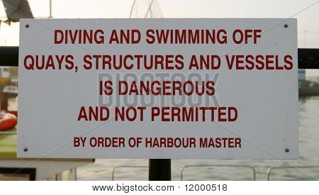 Sign, Quayside
