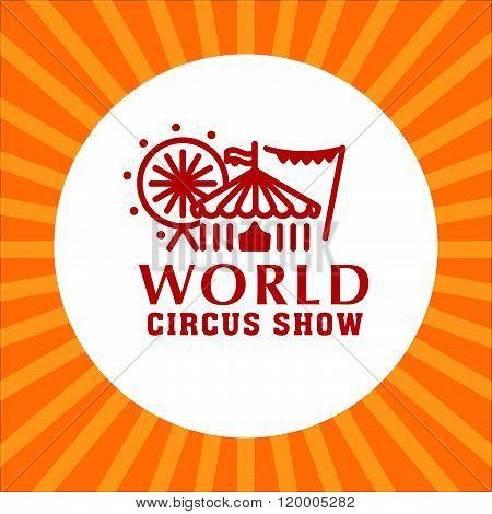 Vector circus logo template.