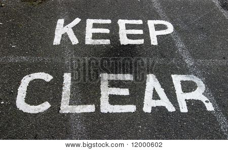 Sign, Keep Clear
