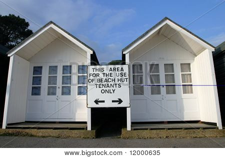 Sign, Beach Hut Tenants Only