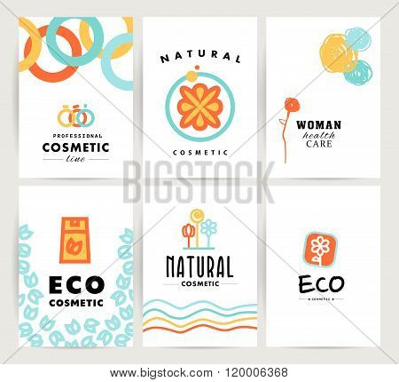 Vector simple flat cards