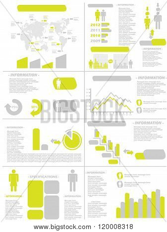 Infographic Demographics New Style Yellow