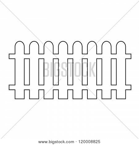 an images of Fence Icon Illustration design