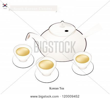 Korean Traditional Tea Set, Popular Dink In South Korea