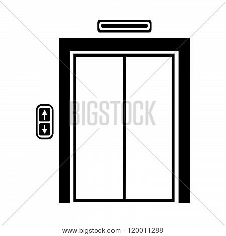 an images of elevator icon Illustration symbol design