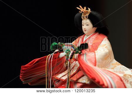 Hina doll (Japanese traditional doll) to celebrate girl's growth