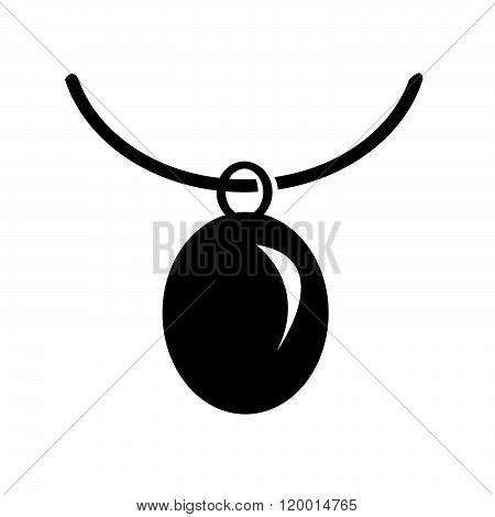 an images of Necklace Icon Illustration synbol design