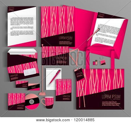 Pink  corporate identity template design
