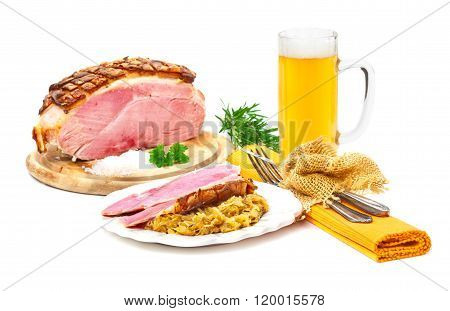 Roast Salt, Sour Cabbage, Beer