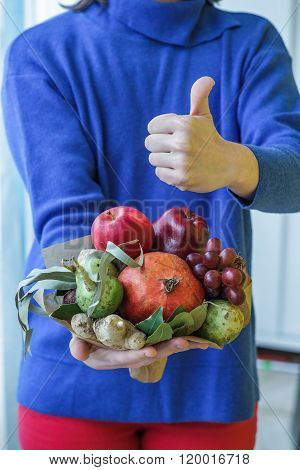 Bunch Of Fruits And Vegetables.