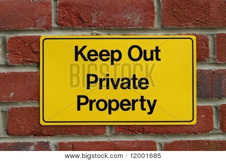 Sign on Private Property