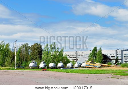 The Storage Of Old Helicopters At The Pulkovo Airport In Saint-petersburg, Russia