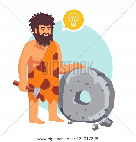 Stone age primitive man had an idea