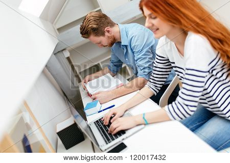 Husband And Wife Working From Home