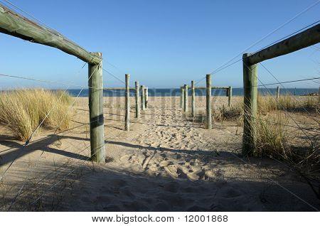Zugangsweg durch Dünen