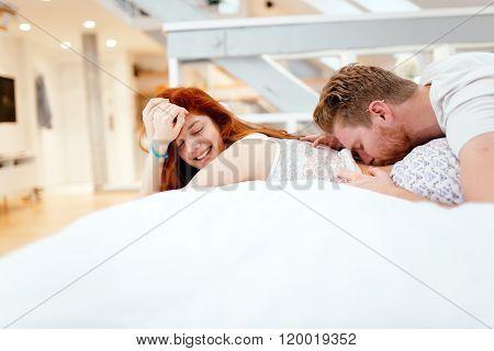 Heterosexual Couple's Foreplay