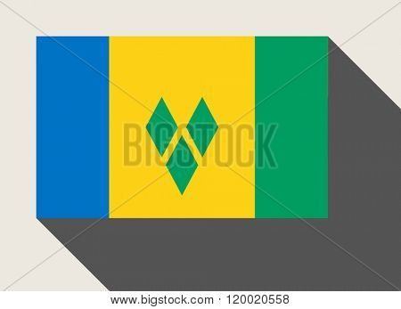 Saint Vincent and the Grenadines flag in flat web design style.