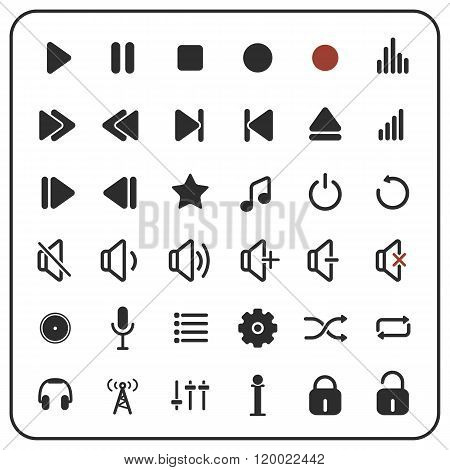 sound icons and sound buttons, audio icons