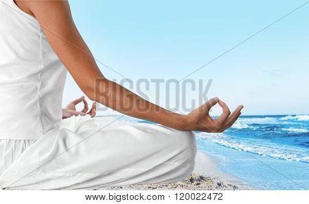 Yoga Meditating.