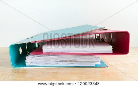 Two Hugging Office Folders