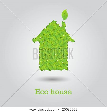 Eco House Made From Green Leafs