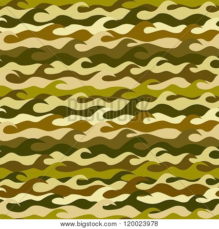 Seamless Pattern Made From Sea Waves