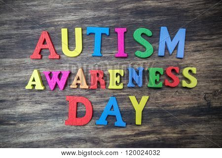 concept of autism awareness day word