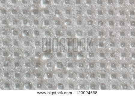 Water Droplets On  Fabric